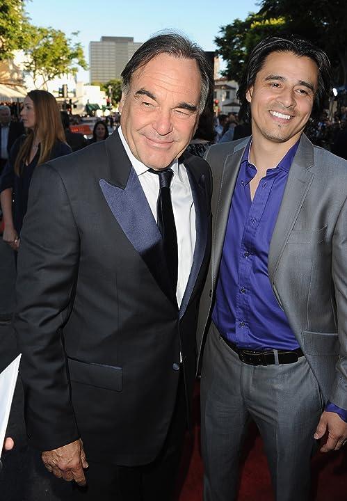 Oliver Stone and Antonio Jaramillo at Savages (2012)