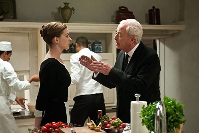 Michael Caine and Anne Hathaway in The Dark Knight Rises (2012)