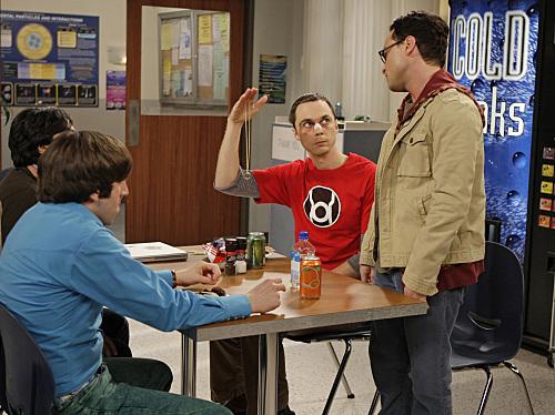 Johnny Galecki, Simon Helberg, and Jim Parsons in The Big Bang Theory (2007)