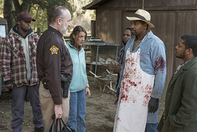 Jim Beaver, Mykelti Williamson, and Abby Miller in Justified (2010)