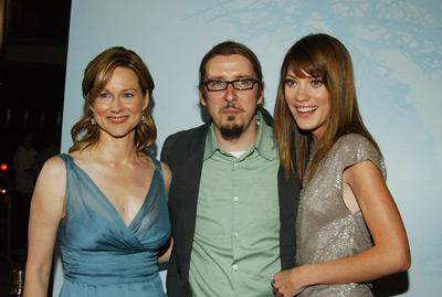 Laura Linney, Scott Derrickson, and Jennifer Carpenter at The Exorcism of Emily Rose (2005)
