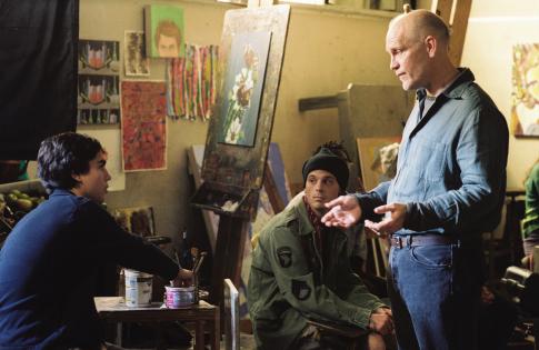 John Malkovich and Max Minghella in Art School Confidential (2006)
