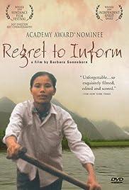 Regret to Inform(1998) Poster - Movie Forum, Cast, Reviews