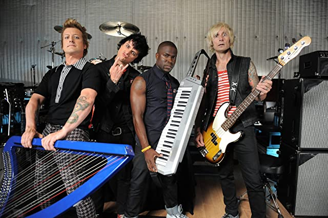 Billie Joe Armstrong, Tre Cool, Mike Dirnt, Kevin Hart, and Green Day in 2012 MTV Video Music Awards (2012)