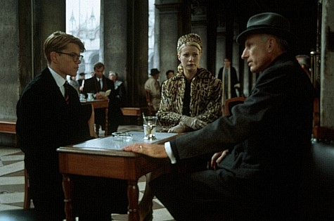 Matt Damon, Gwyneth Paltrow, and James Rebhorn in The Talented Mr. Ripley (1999)