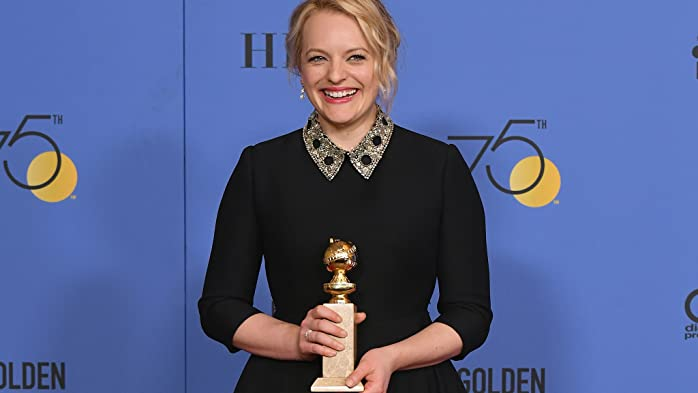 Elisabeth Moss at an event for The 75th Golden Globe Awards (2018)