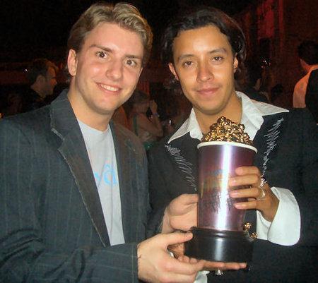 Chris Barrett and Efren Ramirez at the 2005 MTV Movie Awards