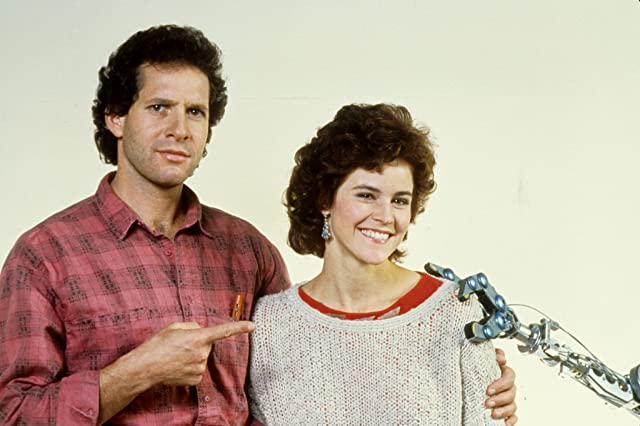 Steve Guttenberg and Ally Sheedy in Short Circuit (1986)