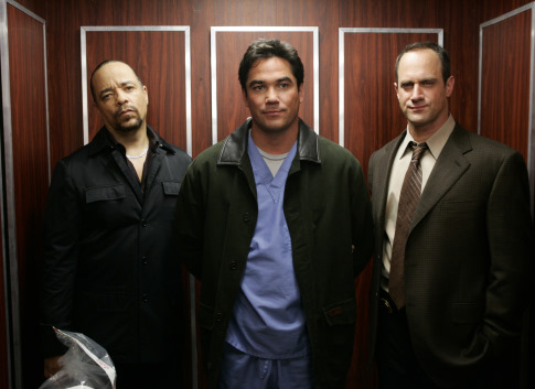 Dean Cain, Ice-T, and Christopher Meloni in Law & Order: Special Victims Unit (1999)