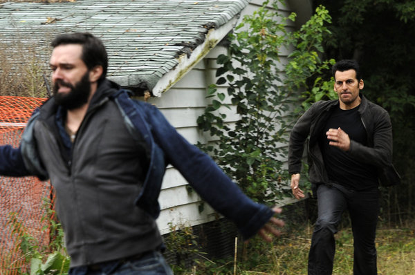 Oded Fehr and Steve Wilkie in Covert Affairs (2010)