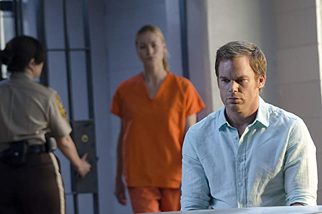 Michael C. Hall and Yvonne Strahovski in Dexter (2006)