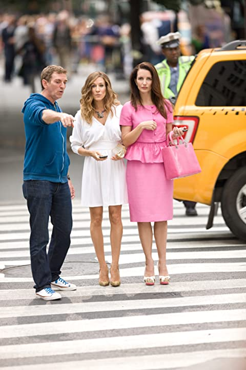 Sarah Jessica Parker, Kristin Davis, and Michael Patrick King in Sex and the City 2 (2010)