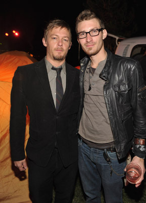 Norman Reedus and Linds Edwards at The Walking Dead (2010)