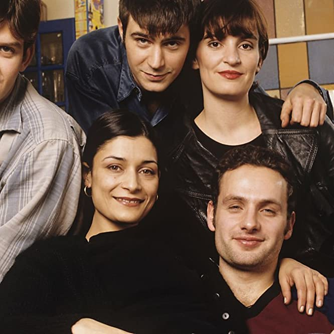 Jack Davenport, Amita Dhiri, Jason Hughes, Andrew Lincoln, and Daniela Nardini in This Life (1996)