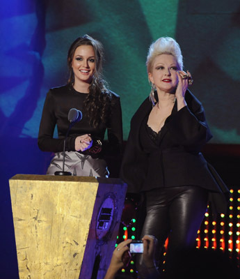 Cyndi Lauper and Leighton Meester