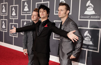 Billie Joe Armstrong, Tre Cool, Mike Dirnt, and Green Day