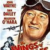 Maureen O'Hara and John Wayne in The Wings of Eagles (1957)