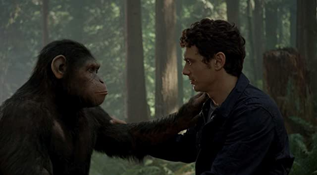 James Franco and Andy Serkis in Rise of the Planet of the Apes (2011)