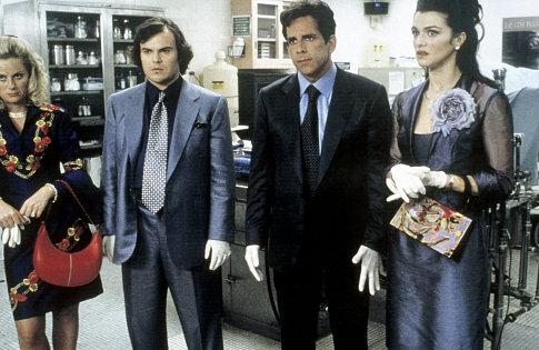 (left to right) Amy Poehler, Jack Black, Ben Stiller, Rachel Weisz