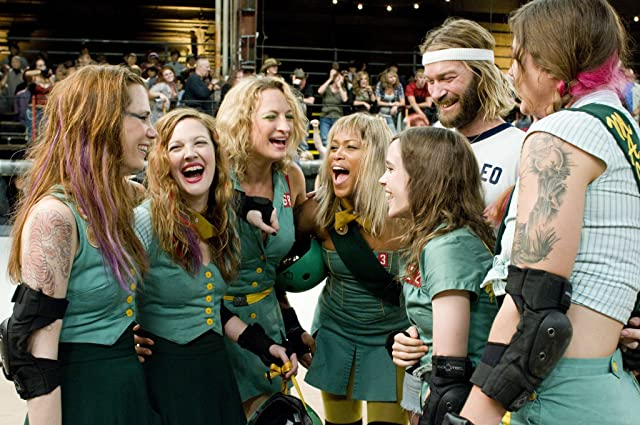 Drew Barrymore, Ellen Page, Andrew Wilson, Zoë Bell, Eve, and Kristen Wiig in Whip It (2009)