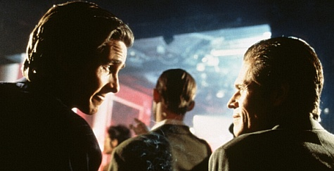 Christian Bale and Willem Dafoe in American Psycho (2000)