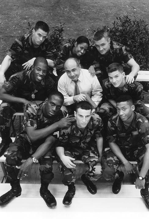 Mark Wahlberg, Danny DeVito, Lillo Brancato, Stacey Dash, Kadeem Hardison, Richard T. Jones, Khalil Kain, and Gregory Sporleder in Renaissance Man (1994)