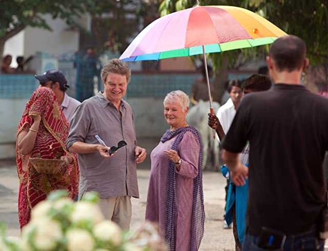 Judi Dench and John Madden in The Best Exotic Marigold Hotel (2011)