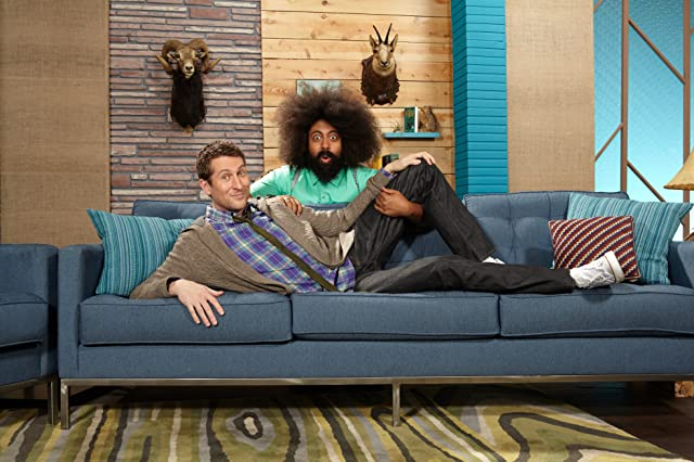 Scott Aukerman and Reggie Watts in Comedy Bang! Bang! (2012)