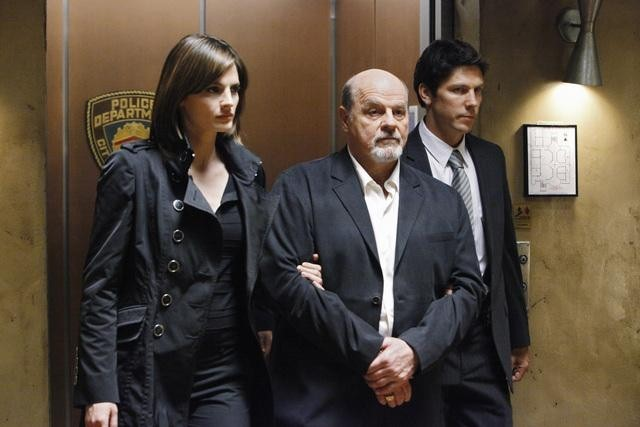 Michael Ironside, Michael Trucco, and Stana Katic in Castle (2009)