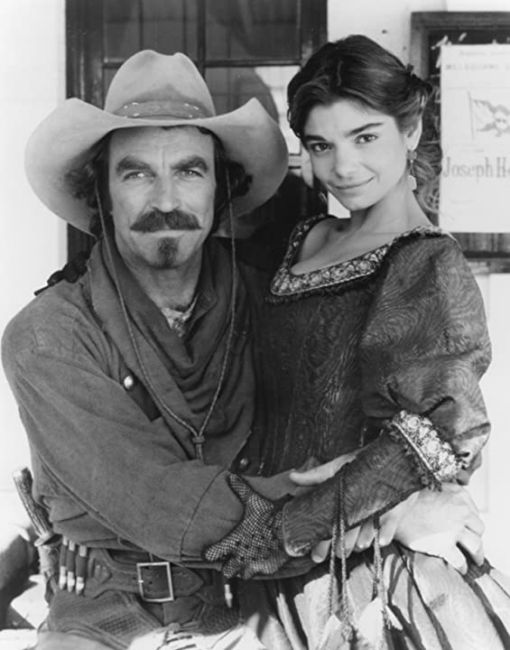 Laura San Giacomo and Tom Selleck in Quigley Down Under (1990)