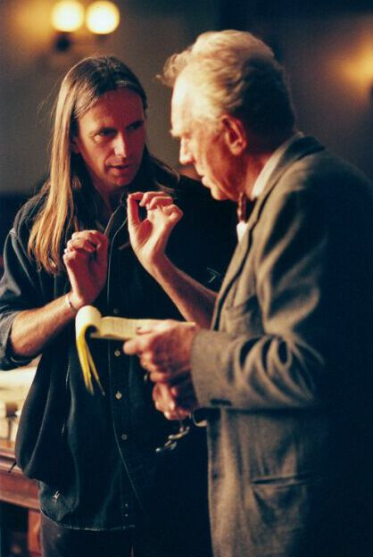 Director Scott Hicks with Max von Sydow