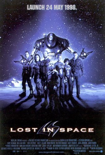 Gary Oldman, Mimi Rogers, Lacey Chabert, William Hurt, Heather Graham, Matt LeBlanc, Jack Johnson, and Dick Tufeld in Lost in Space (1998)