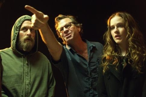 Michael Douglas, Willis Burks II, Mike Cahill, and Evan Rachel Wood in King of California (2007)