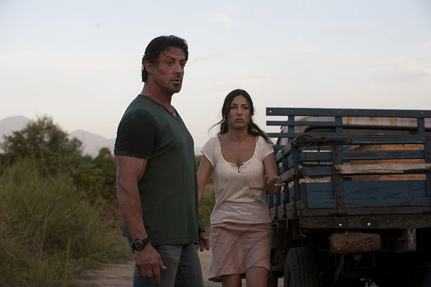 Sylvester Stallone and Giselle Itié in The Expendables (2010)