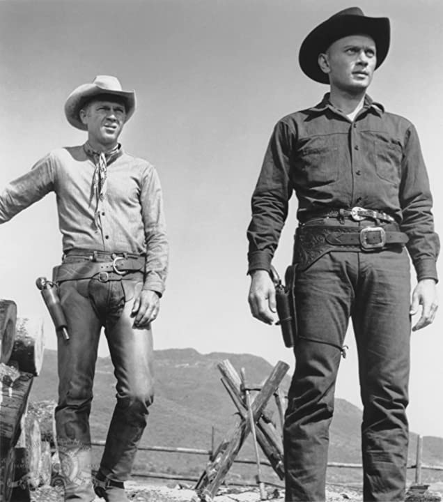 Steve McQueen and Yul Brynner in The Magnificent Seven (1960)