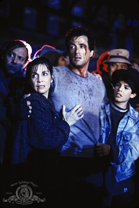 Sylvester Stallone, Talia Shire, and Sage Stallone in Rocky V (1990)