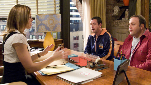 Adam Sandler, Jessica Biel, and Kevin James in I Now Pronounce You Chuck & Larry (2007)