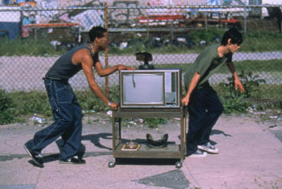 Jared Leto and Marlon Wayans in Requiem for a Dream (2000)