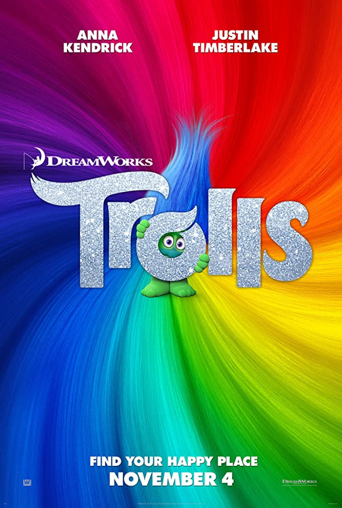 Trolls (2016) 720p Bluray x 264 AC3 Dual Audio [Hindi 5.1 + English 5.1] Esubs - 1.45 GB