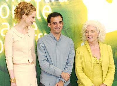 Nicole Kidman, Fionnula Flanagan, and Alejandro Amenábar at The Others (2001)