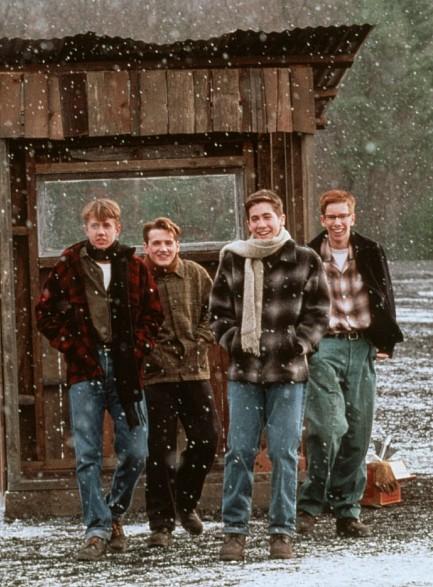 William Lee Scott, Jake Gyllenhaal, Chad Lindberg, and Chris Owen in October Sky (1999)