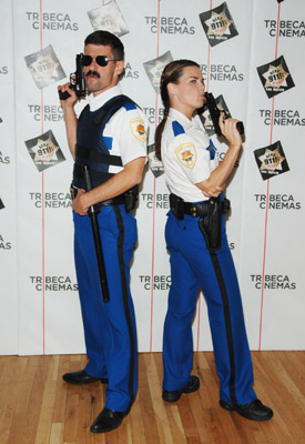 Mary Birdsong and Robert Ben Garant at Reno 911!: Miami (2007)
