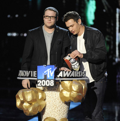 James Franco and Seth Rogen at an event for 2008 MTV Movie Awards (2008)
