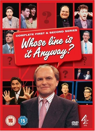 Stephen Fry, Clive Anderson, Josie Lawrence, Michael McShane, Paul Merton, Greg Proops, Griff Rhys Jones, John Sessions, Tony Slattery, and Ryan Stiles in Whose Line Is It Anyway? (1988)