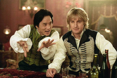 Jackie Chan and Owen Wilson in Shanghai Knights (2003)