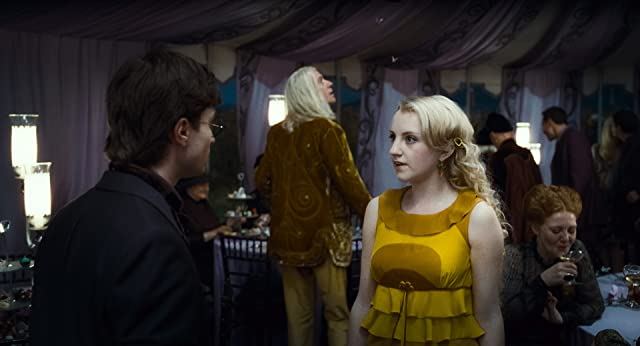 Rhys Ifans, Daniel Radcliffe, and Evanna Lynch in Harry Potter and the Deathly Hallows: Part 1 (2010)