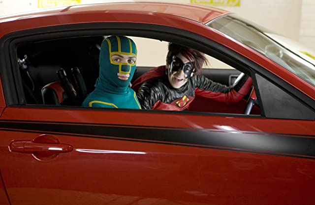 Aaron Taylor-Johnson and Christopher Mintz-Plasse in Kick-Ass (2010)