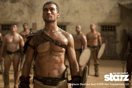 Andy Whitfield and Jai Courtney in Spartacus: War of the Damned (2010)