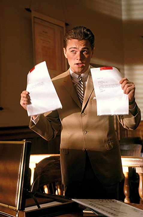 Leonardo DiCaprio in Catch Me If You Can (2002)