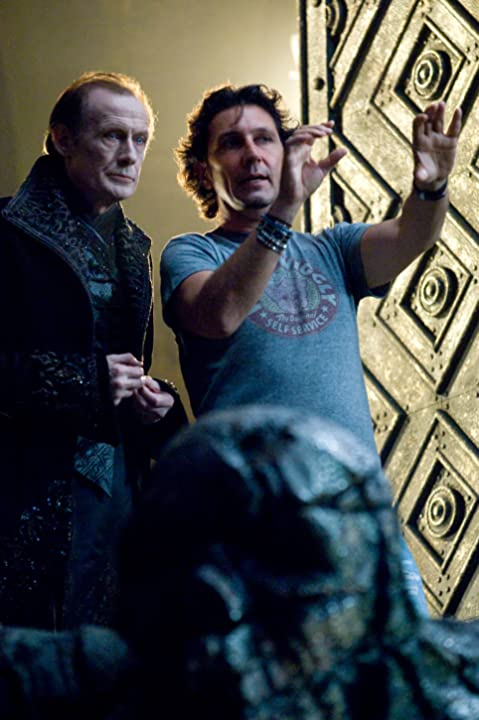 Bill Nighy and Patrick Tatopoulos in Underworld: Rise of the Lycans (2009)